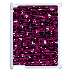 Magenta Abstract Art Apple Ipad 2 Case (white) by Valentinaart