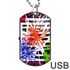 Colorful Big Bang Dog Tag Usb Flash (one Side) by Valentinaart