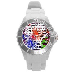 Colorful Big Bang Round Plastic Sport Watch (l) by Valentinaart