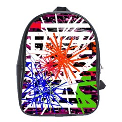 Colorful Big Bang School Bags (xl)  by Valentinaart