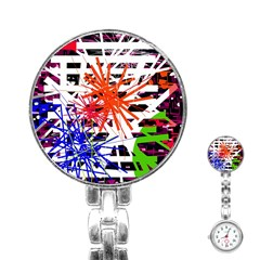 Colorful Big Bang Stainless Steel Nurses Watch by Valentinaart