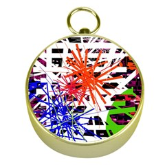 Colorful Big Bang Gold Compasses by Valentinaart