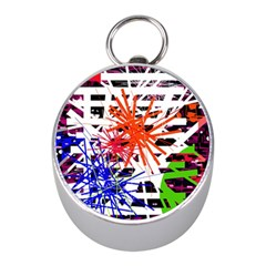 Colorful Big Bang Mini Silver Compasses by Valentinaart