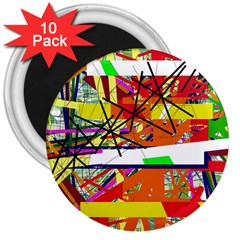 Colorful Abstraction By Moma 3  Magnets (10 Pack)  by Valentinaart