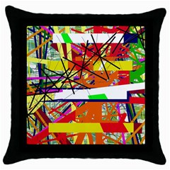 Colorful Abstraction By Moma Throw Pillow Case (black) by Valentinaart