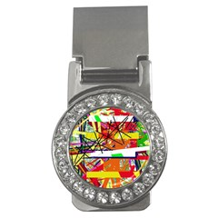 Colorful Abstraction By Moma Money Clips (cz)  by Valentinaart