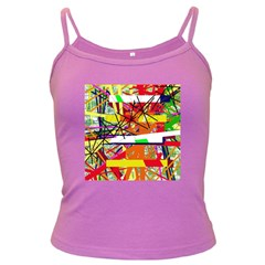 Colorful Abstraction By Moma Dark Spaghetti Tank by Valentinaart