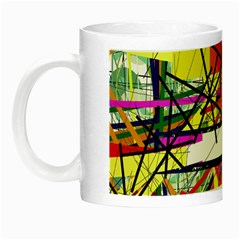 Colorful Abstraction By Moma Night Luminous Mugs by Valentinaart