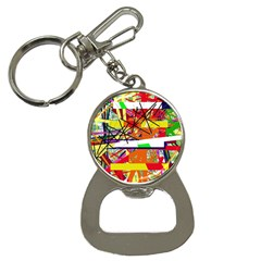 Colorful Abstraction By Moma Bottle Opener Key Chains by Valentinaart