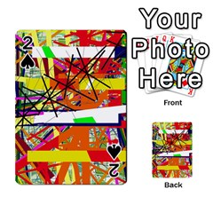 Colorful Abstraction By Moma Playing Cards 54 Designs  by Valentinaart