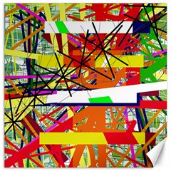 Colorful Abstraction By Moma Canvas 16  X 16   by Valentinaart
