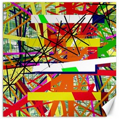 Colorful Abstraction By Moma Canvas 20  X 20   by Valentinaart