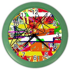 Colorful Abstraction By Moma Color Wall Clocks by Valentinaart