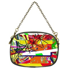 Colorful abstraction by Moma Chain Purses (Two Sides)  by Valentinaart