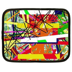 Colorful Abstraction By Moma Netbook Case (xl)  by Valentinaart