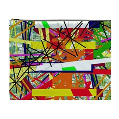Colorful Abstraction By Moma Cosmetic Bag (xl) by Valentinaart
