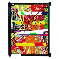 Colorful Abstraction By Moma Apple Ipad 2 Case (black) by Valentinaart