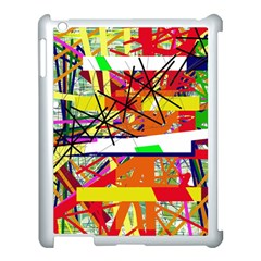 Colorful Abstraction By Moma Apple Ipad 3/4 Case (white) by Valentinaart