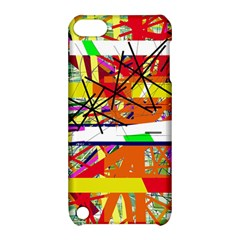 Colorful Abstraction By Moma Apple Ipod Touch 5 Hardshell Case With Stand by Valentinaart