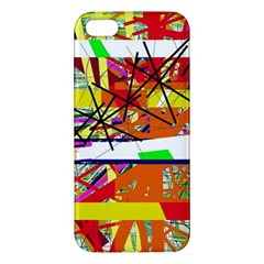 Colorful Abstraction By Moma Apple Iphone 5 Premium Hardshell Case by Valentinaart