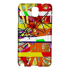 Colorful Abstraction By Moma Samsung Galaxy Note 3 N9005 Hardshell Case by Valentinaart