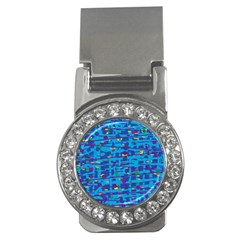 Blue Decorative Art Money Clips (cz)  by Valentinaart
