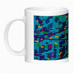 Blue Decorative Art Night Luminous Mugs by Valentinaart
