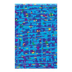 Blue Decorative Art Shower Curtain 48  X 72  (small)  by Valentinaart