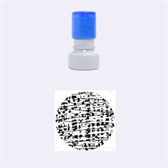 Blue Decorative Art Rubber Round Stamps (small) by Valentinaart