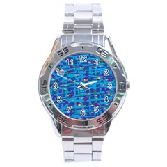 Blue Decorative Art Stainless Steel Analogue Watch by Valentinaart