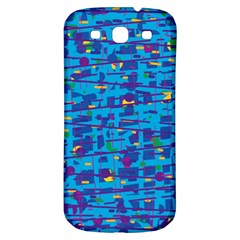 Blue Decorative Art Samsung Galaxy S3 S Iii Classic Hardshell Back Case by Valentinaart