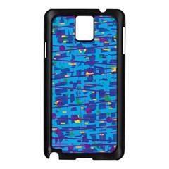Blue Decorative Art Samsung Galaxy Note 3 N9005 Case (black) by Valentinaart