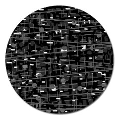 Simple Gray Magnet 5  (round) by Valentinaart