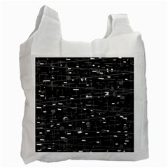 Simple Gray Recycle Bag (two Side)  by Valentinaart