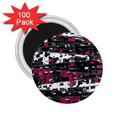 Magenta, White And Gray Decor 2 25  Magnets (100 Pack)  by Valentinaart