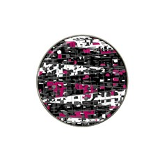 Magenta, White And Gray Decor Hat Clip Ball Marker by Valentinaart