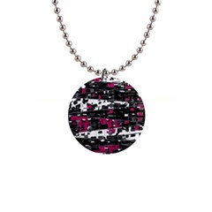 Magenta, White And Gray Decor Button Necklaces by Valentinaart