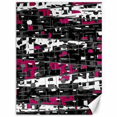Magenta, White And Gray Decor Canvas 36  X 48   by Valentinaart