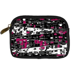 Magenta, White And Gray Decor Digital Camera Cases by Valentinaart