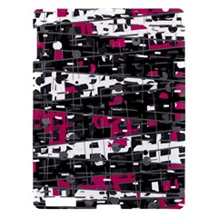 Magenta, White And Gray Decor Apple Ipad 3/4 Hardshell Case by Valentinaart
