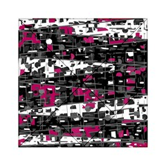 Magenta, White And Gray Decor Acrylic Tangram Puzzle (6  X 6 ) by Valentinaart
