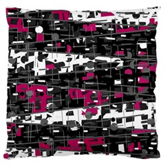 Magenta, White And Gray Decor Large Cushion Case (one Side) by Valentinaart