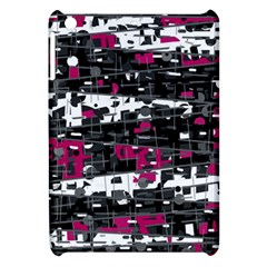 Magenta, White And Gray Decor Apple Ipad Mini Hardshell Case by Valentinaart
