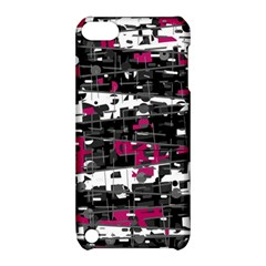 Magenta, White And Gray Decor Apple Ipod Touch 5 Hardshell Case With Stand by Valentinaart