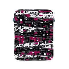Magenta, White And Gray Decor Apple Ipad 2/3/4 Protective Soft Cases by Valentinaart