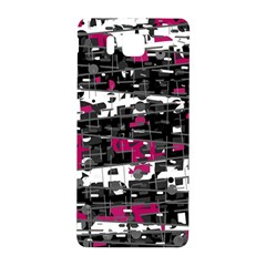 Magenta, White And Gray Decor Samsung Galaxy Alpha Hardshell Back Case by Valentinaart