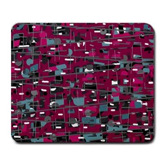 Magenta Decorative Design Large Mousepads by Valentinaart