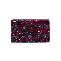 Magenta Decorative Design Cosmetic Bag (small)  by Valentinaart