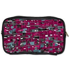 Magenta Decorative Design Toiletries Bags by Valentinaart