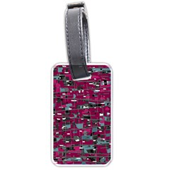 Magenta Decorative Design Luggage Tags (one Side)  by Valentinaart